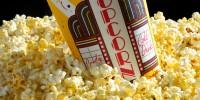 Popcorn in cardboard tub for the cinema