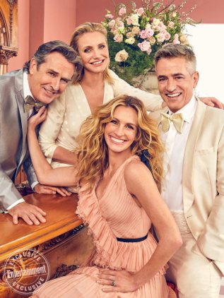 My Best Friend's Wedding Rupert Everett, Cameron Diaz, Julia Roberts and Dermot Mulroney photographed exclusively for EW on January 28, 2019 in Los Angeles
